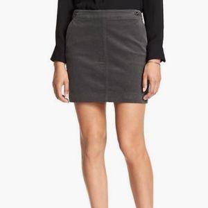 NWT Banana Republic Corduroy Mini Skirt Charcoal